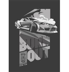 Burnout car japanese drift sport street racing vector
