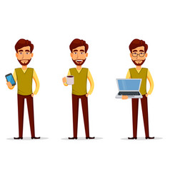 Business man with beard vector