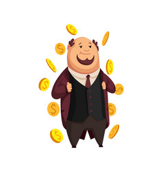 Cartoon rich people image a funny fat vector