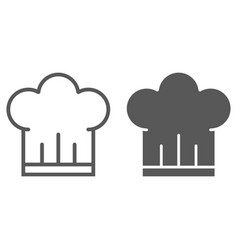 chef hat line and glyph icon kitchen and cooking vector image