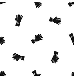 clapping applauding hands pattern seamless black vector image