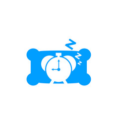 clock sleep icon logo design element vector image
