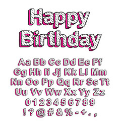 cute font in style lol doll surprise vector image