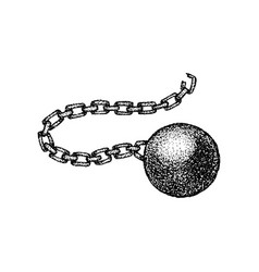 Dotwork wrecking ball chain vector