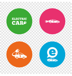 electric car sign sedan and hatchback transport vector image