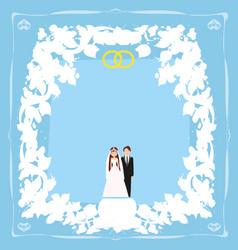 elegant wedding invitation vector image