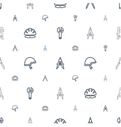 Engineer icons pattern seamless white background vector