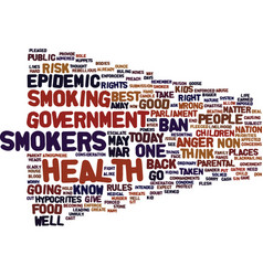 Epidemic anger as smokers go to war text vector