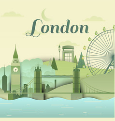 famous places in london england vector image