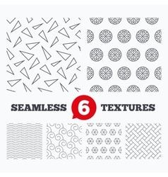 Floral ornament vintage circles textures vector image