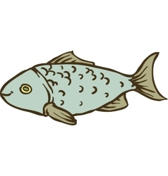 Fresh Gray Fish vector