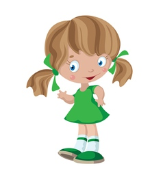 Funny little girl vector