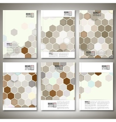 Geometric backgrounds abstract hexagonal patterns vector image