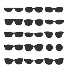 glasses black silhouette icons vector image