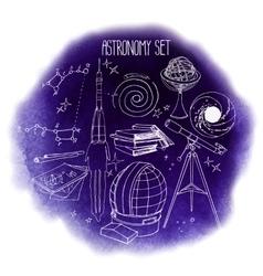 Graphic astronomy set vector