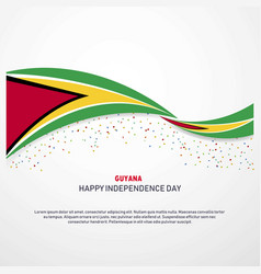 Guyana happy independence day background vector
