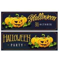 halloween web banners designs vector image