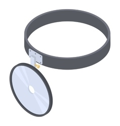 Headlamp reflector icon isometric 3d style vector