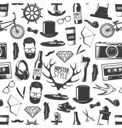 Hipster Black Pattern vector