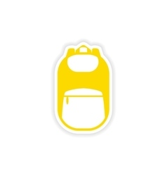 icon sticker realistic design on paper backpack vector image
