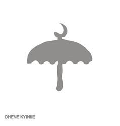 Icon with adinkra symbol ohene kyiniie vector