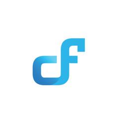 Initial letter cf design logo vector