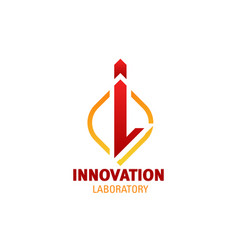 innovation laboratory letter i icon vector image