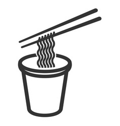 Instant noodles icon delicious cooking in a box vector