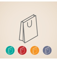 Isometric shopping bag icons vector