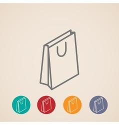 isometric shopping bag icons vector image