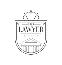 Law Firm And Lawyer Office Black And White Shield vector image