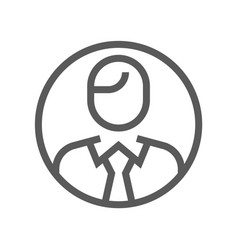 leadership and key person flat line icon vector image