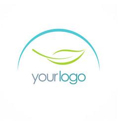 Leaf organic logo vector
