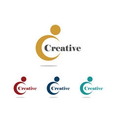 letter c creative logo vector image