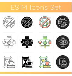 Lifestyle tendencies icons set vector