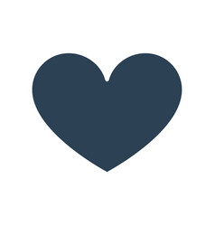 like heart colored icon love feedback symbol vector image