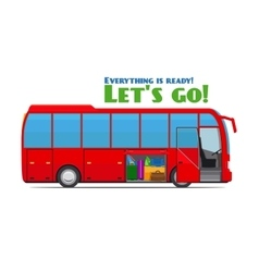 Luggage in tourist bus vector image