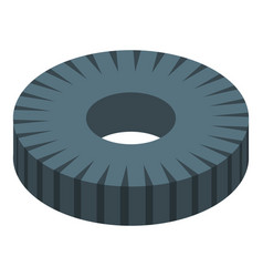 Magnetic spiral coil icon isometric style vector