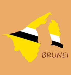 map of brunei with the provinces colored in vector image