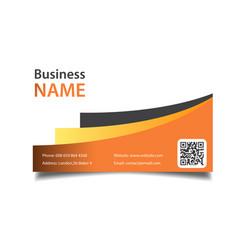 Modern business card orange background imag vector