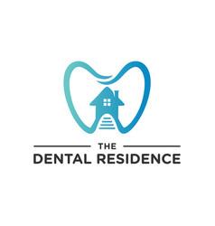 modern dental health home logo vector image
