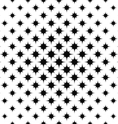 Monochrome repeating curved star pattern vector image
