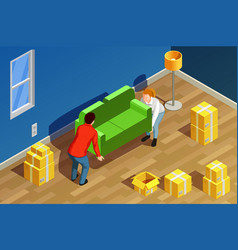 New home isometric composition vector