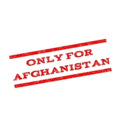 Only For Afghanistan Watermark Stamp vector