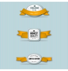 orange retro premium badges vector image
