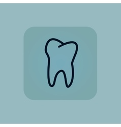 Pale blue tooth icon vector