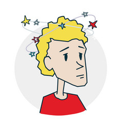 person dizzy and headache vector image