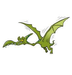 Pterodactyl dinosaur flying vector