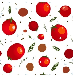 Rad Canned Spicy Tomato Seamless Pattern vector image