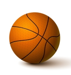 Realistic Basketball Ball Icon vector image